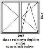 okno rehau geneo 2063mm szerokości na 1826mm wysokości