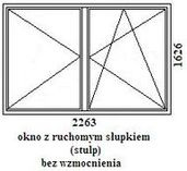 okno rehau geneo 2263mm szerokości na 1626mm wysokości