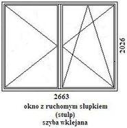 okno rehau geneo 2663mm szerokości na 2026mm wysokości