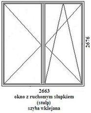 okno rehau geneo 2663mm szerokości na 2676mm wysokości