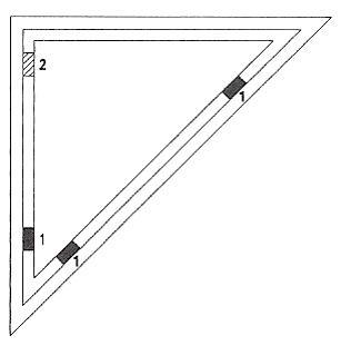 klocki podporowe szyby zespolonej. Sposób rozmieszczenia w oknie trójkątnym.