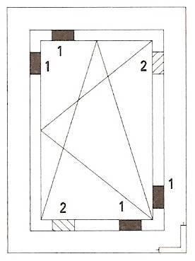 klocki podporowe szyby zespolonej. Sposób rozmieszczenia w oknie rozwiernym.
