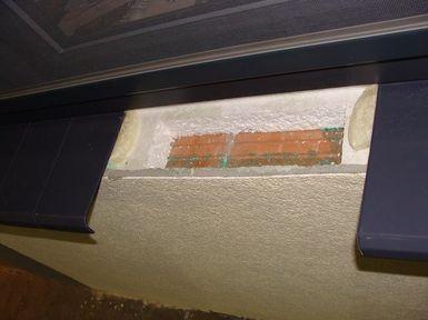 Tontor. Przykładowy dom energooszczędny. Błąd montażu ciepłego parapetu.