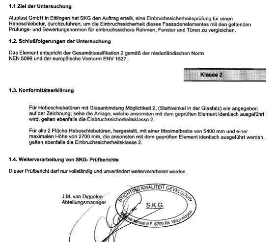 Wyniki badań drzwi unośno-przesuwnych HST w Stichting Kwaliteit Gevelbouw.