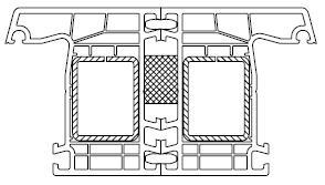 """połączenie dwóch ram ościeżnic okiennych na tak zwane """"cudze pióro"""""""