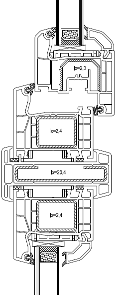 Okna łączone w poziomie