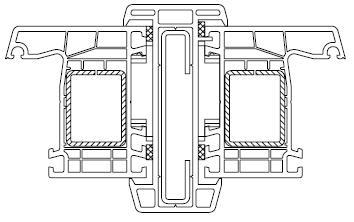 Łącznik statyczny z możliwością mocowania do nadproża i progu ościeża okiennego