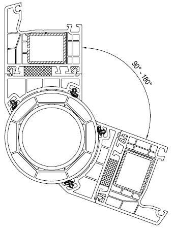 Uniwersalny łącznik rurowy dla kątów 90° - 180°