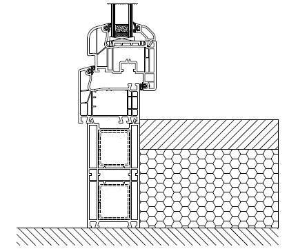 Kształtowniki poszerzeń jako element progowej części drzwi balkonowych