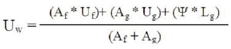 Wzór obliczanie wartości Uw ramki dystansowej