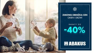 Rabaty sięgają nawet -40% - Zimowa Promocja w Abakus Okna