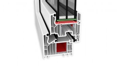 Okna Veka SL 82 AdamS - trzyszybowe, białe