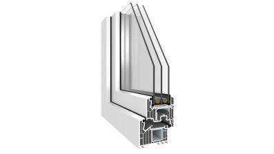Alsecco okno PCV Veka 82 MD