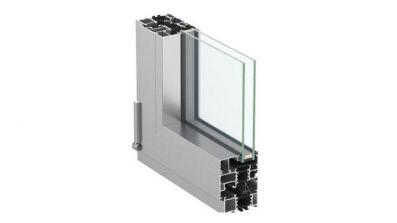Okno aluminiowe Aluhaus 75 - przekrój