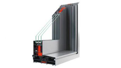 Aluminiowe tarasowe drzwi przesuwne HST Aluhaus Slide dwuszynowe