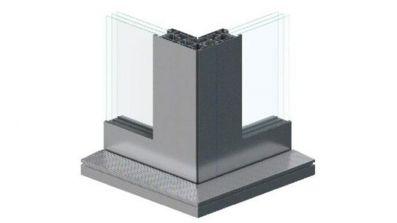 Narożne aluminiowe tarasowe drzwi przesuwne HST Aluhaus Slide
