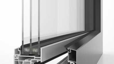 Okno energeto 5000 view z całkowicie schowanym skrzydłem