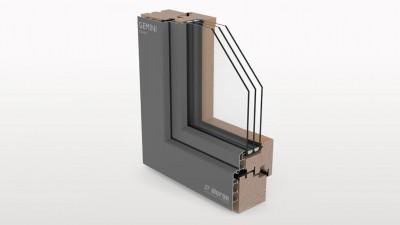 Aluron Gemini Classic okno drewniano-aluminiowe