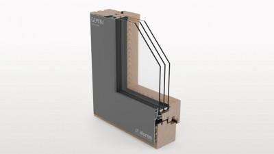 Aluron Gemini Integral II okno drewniano-aluminiowe