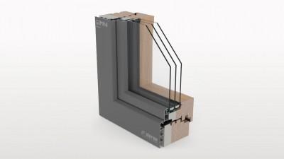 Aluron Gemini Passiv okno drewniano-aluminiowe