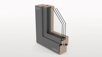 Aluron Gemini Quadrat okno drewniano-aluminiowe