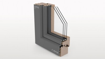 Aluron Gemini Retro okno drewniano-aluminiowe