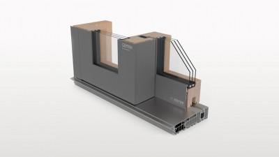 Aluron Gemini SI STANDARD HS drzwi tarasowe przesuwne drewniano-aluminiowe