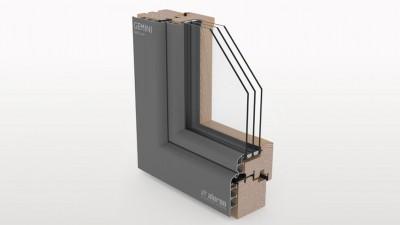 Aluron Gemini Soft Line okno drewniano-aluminiowe
