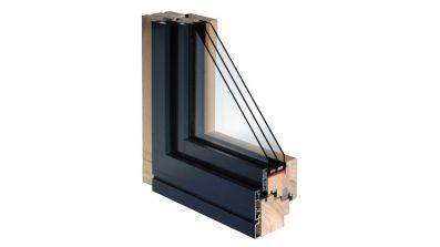 Okno drewniano-aluminiowe Bertrand ALUTREND SMART