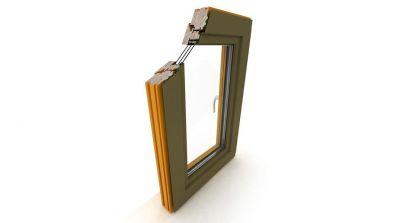 Okno drewniano-aluminiowe Dako DDA-78