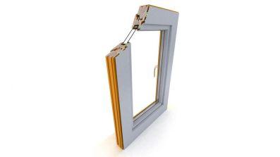 Okno drewniano-aluminiowe Dako DDF-68 AL