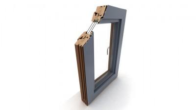 Okno drewniano-aluminiowe Dako DDF-92 AL