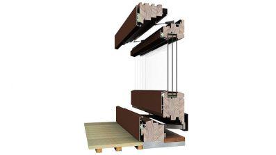 Drewniano-aluminiowe drzwi uchylno-przesuwne HKS Dako