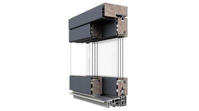 Drewniano-aluminiowe drzwi unoszono-przesuwne HST Dako
