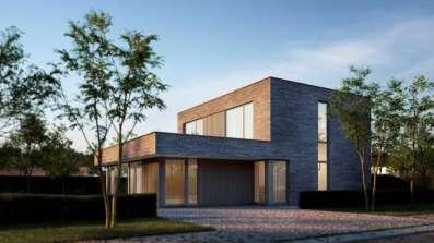Okna Deceuninck Elegant w budynku modernistycznym