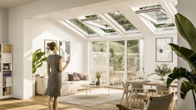 Naturalna wentylacja w domu - wizualizacja - fot. D+H