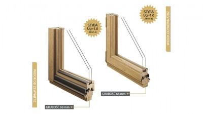 Doorsy System 68 okna drewniane