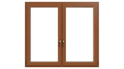 Okno drewniano-aluminiowe Drutex Duoline 68 - widok od środka (drewno)