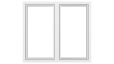 Okno drewniano-aluminiowe Drutex Duoline 78 - widok od zewnątrz (aluminium)