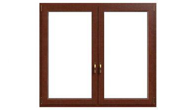 Okno drewniano-aluminiowe Drutex Duoline 78 - widok od środka (drewno)