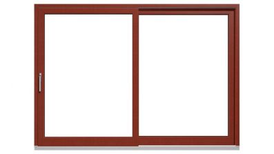 Drewniano-aluminiowe drzwi tarasowe podnoszono-przesuwne Drutex Duoline HS 88 - widok od środka (drewno)