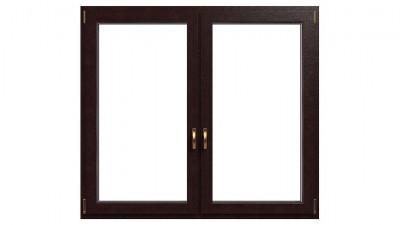 Okno drewniano-aluminiowe Drutex Duoline 88 - widok od środka (drewno)