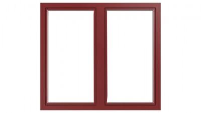 Okno drewniano-aluminiowe Drutex Duoline 88 - widok od zewnątrz (aluminium)