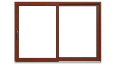 Drewniano-aluminiowe drzwi tarasowe podnoszono-przesuwne Drutex Duoline HS 68 - widok od środka (drewno)