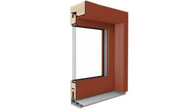Drewniano-aluminiowe drzwi tarasowe podnoszono-przesuwne Drutex Duoline HS