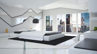Okno Drutex IGLO 5 w sypialni