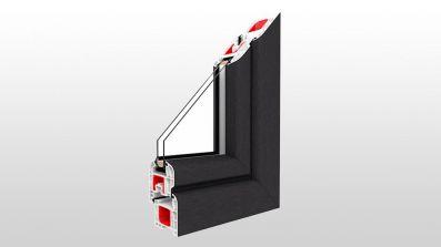 Okno Drutex IGLO 5 przekrój