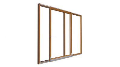 Tarasowe drzwi uchylno-przesuwne Drutex IGLO Energy PSK