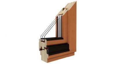 Okno drewniane Drutex Softline