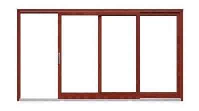 Drewniane drzwi tarasowe unoszono-przesuwne Drutex Softline HS 68